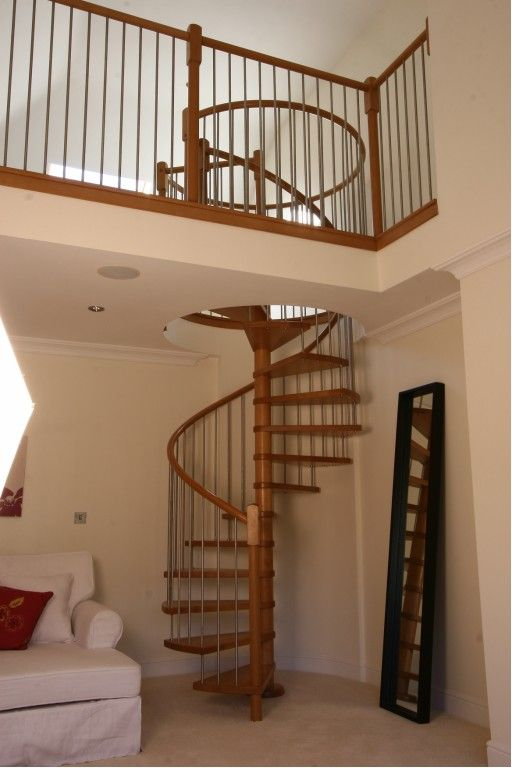 Diy Stainless Steel Spiral Stairs Solid Wood Tre On