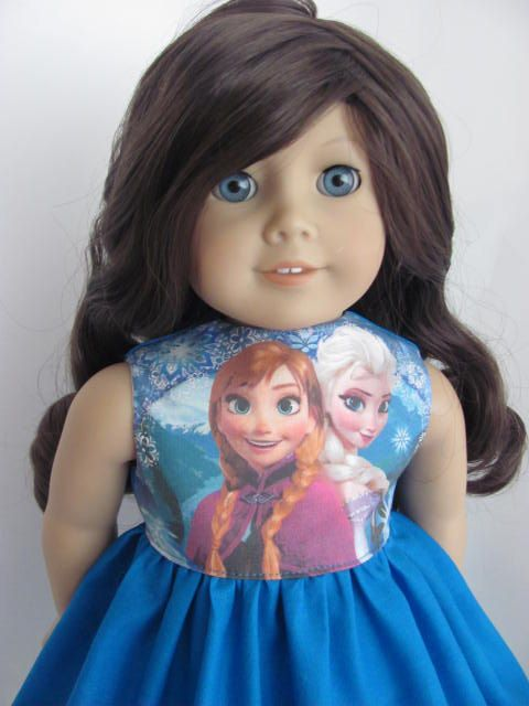 Frozen Inspired Doll Dress for the American Girl Doll featuring Anna & Elsa by TheWhimsicalDoll2