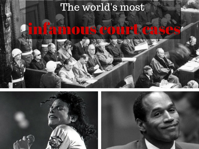 The most infamous court cases