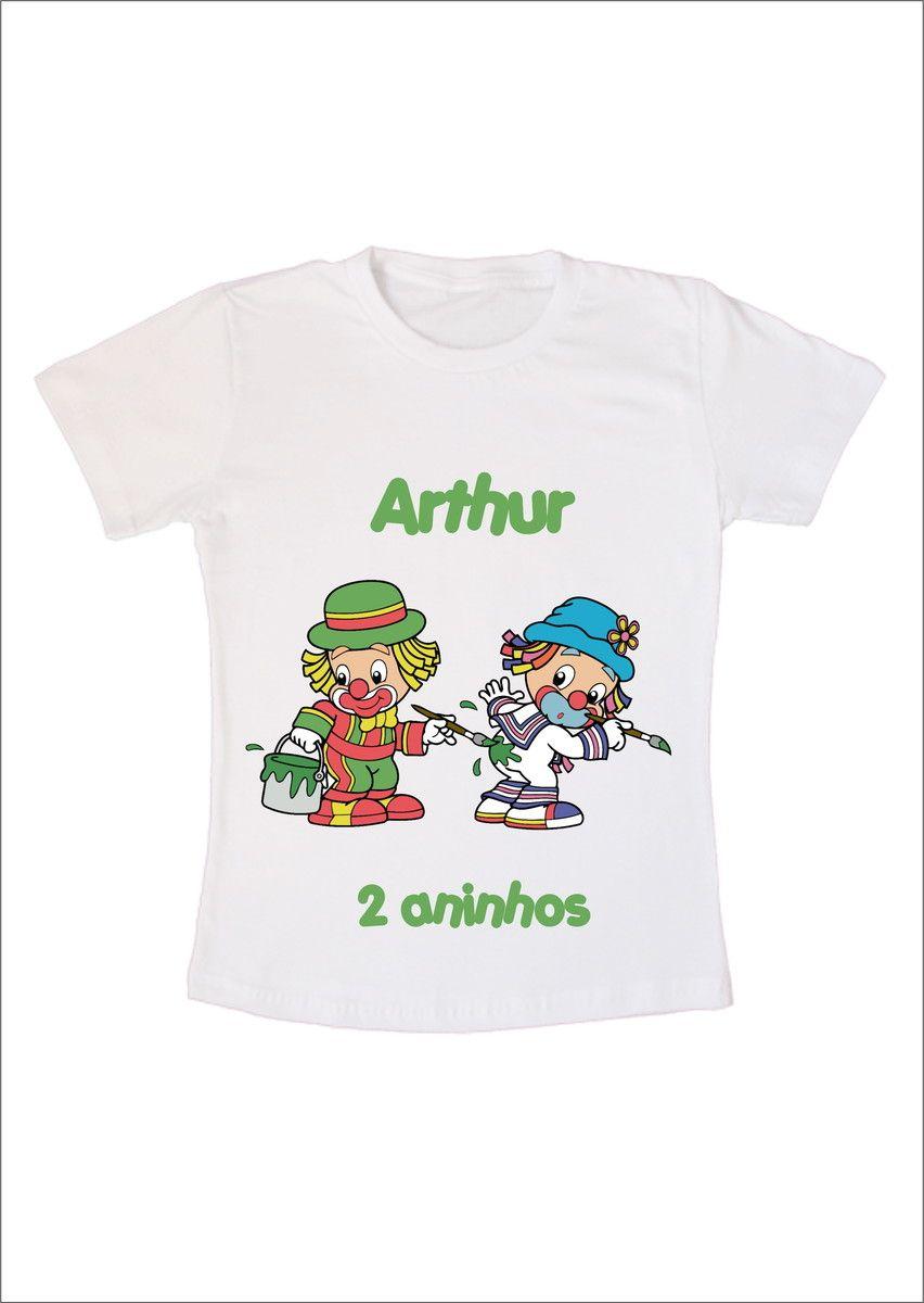 Camiseta Infantil Patati Patata Pintando  cce57231a606e