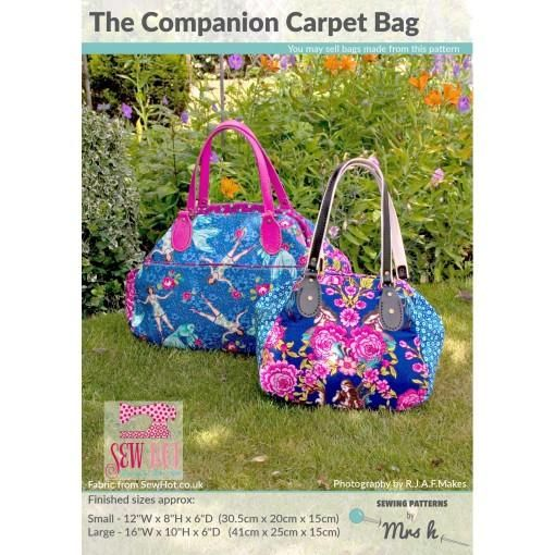The Companion Carpet Bag By Sewing Patterns By Mrs H Printed Paper Pattern Companion Carpet Bag Carpet Bag Bag Patterns To Sew
