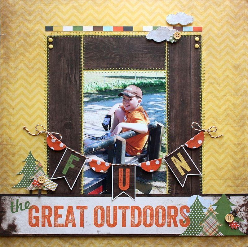 Simple Stories – Take a Hike Layout by Shellye McDaniel. Like the ph ...