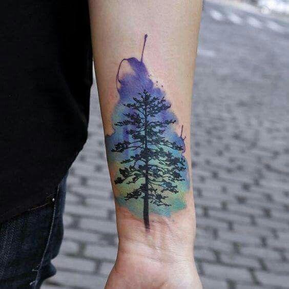 Watercolor Tree Watercolor Tattoo Tree Tree Tattoo Men Forearm