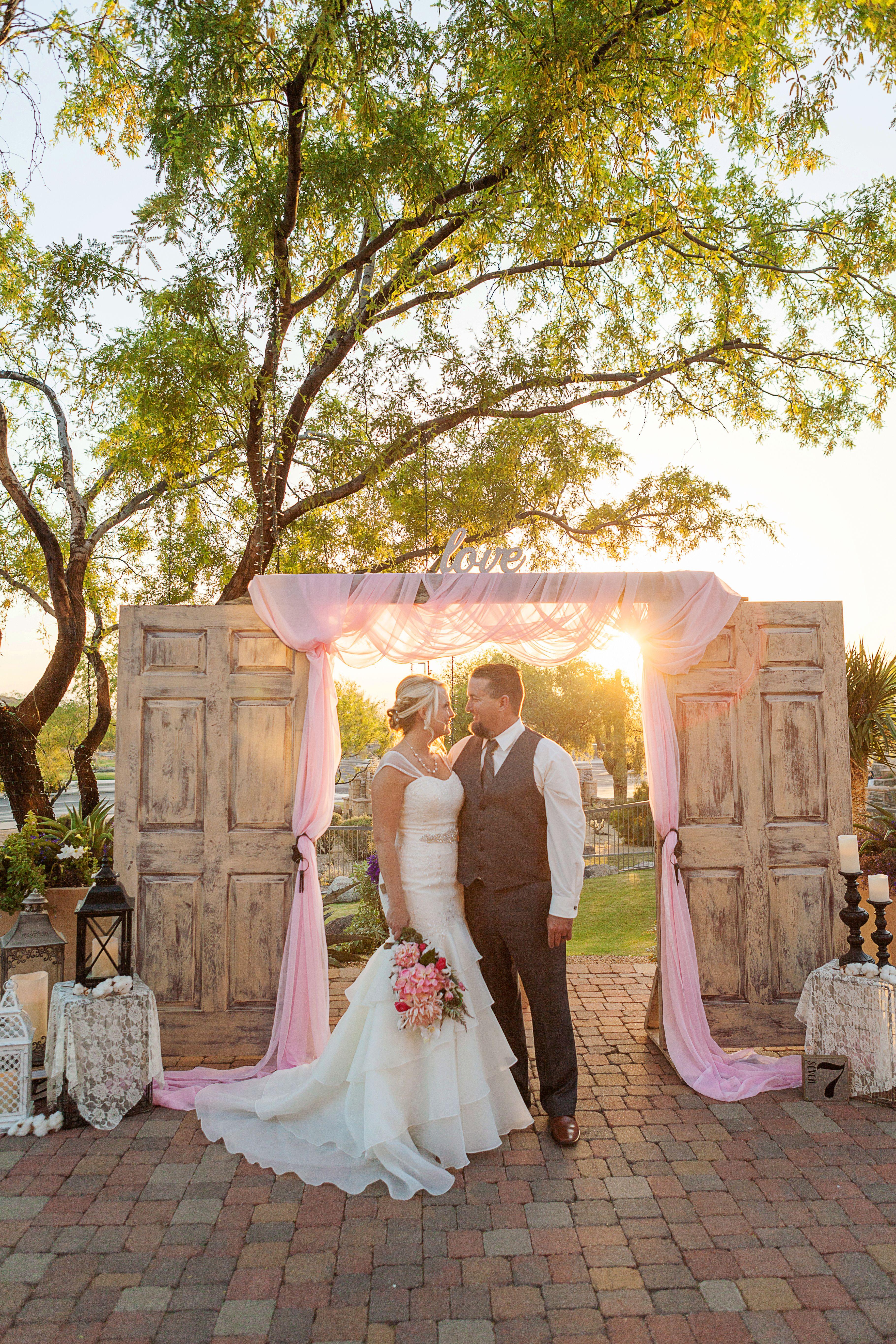 Vintage doors outdoor wedding backdrop/alter | Door ...