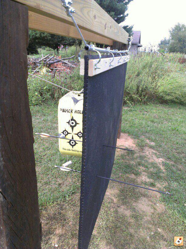 Finished My Backstop Bow Pinterest Archery