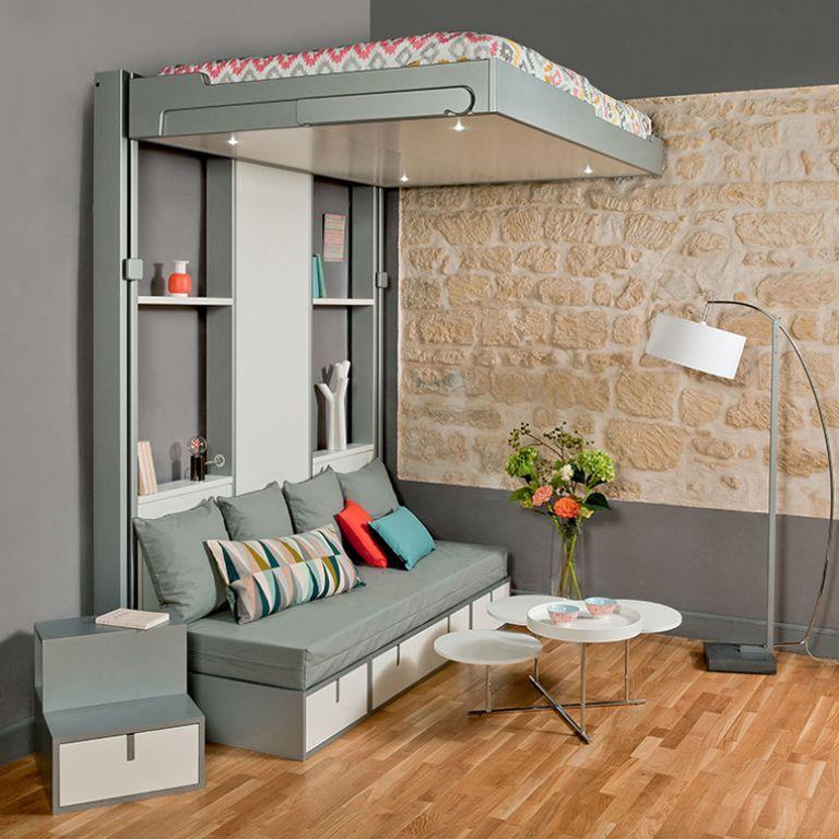 Lits Escamotables Et Lits Mezzanines Meubles Gain De Place Lit Escamotable Mobilier De Salon Lit Plafond