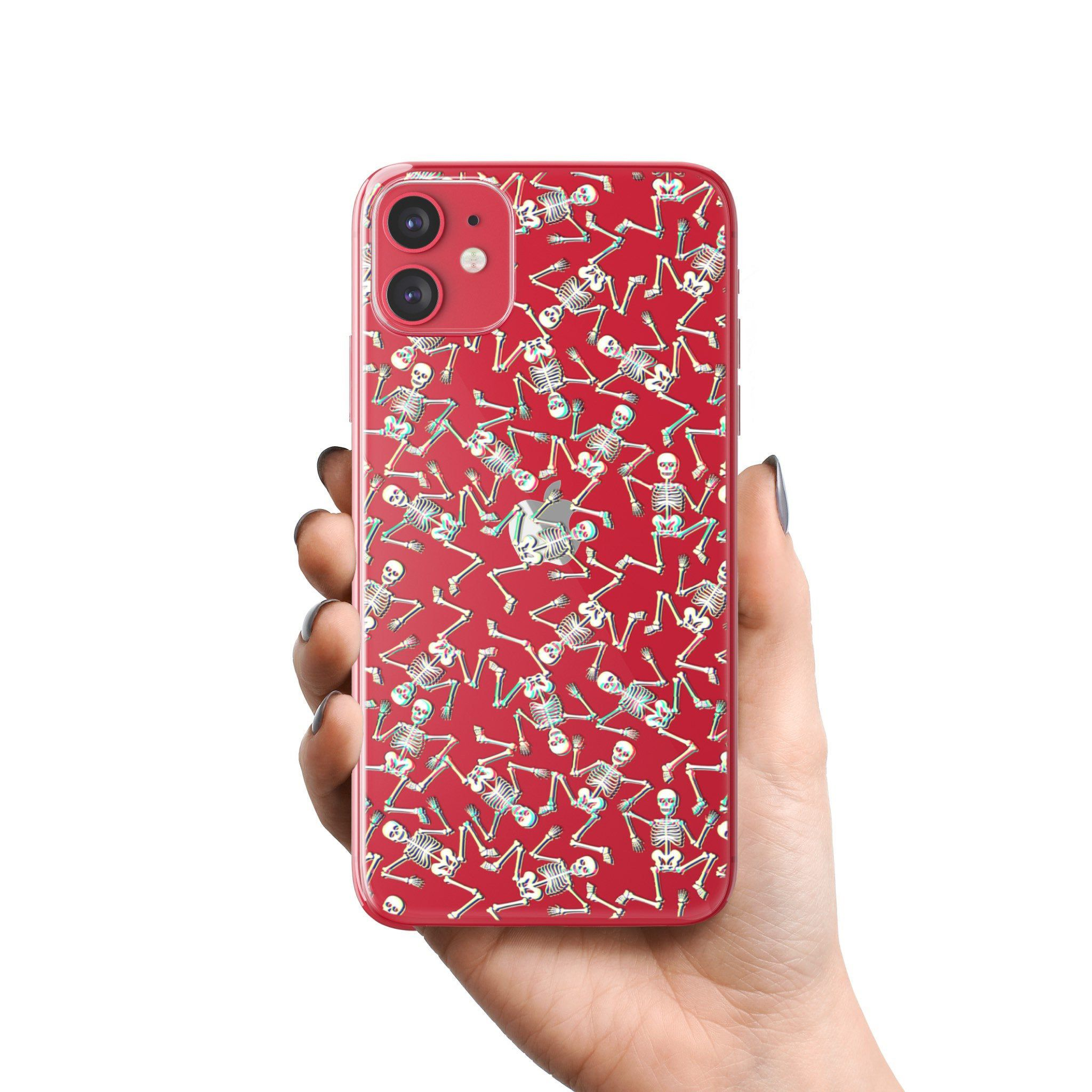 3d glitch skeleton phone case for iphone 11 pro max xr xs