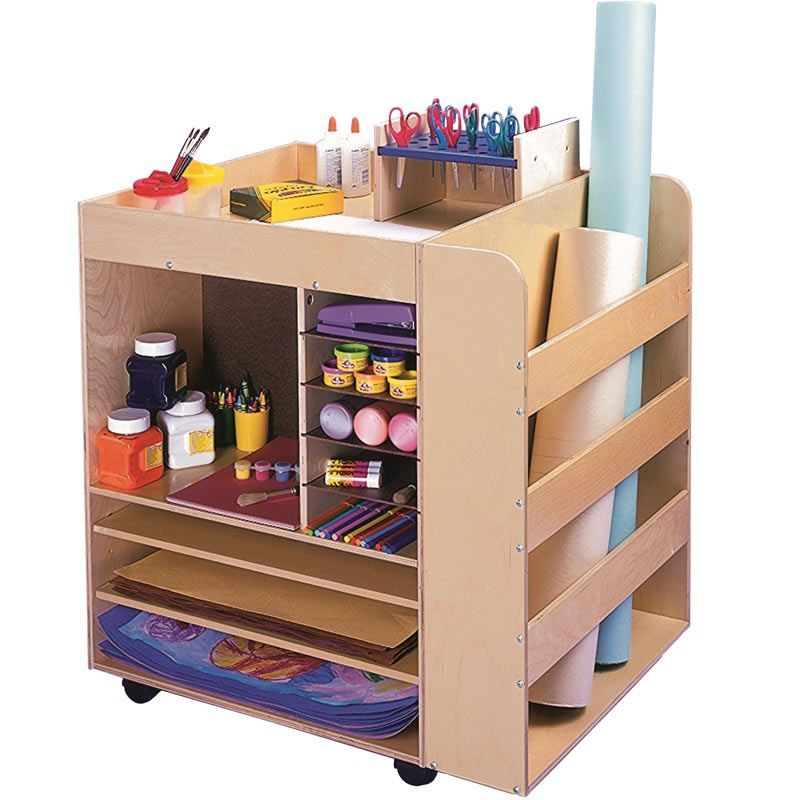 Keep all of your art supplies organized with the rolling art keep all of your art supplies organized with the rolling art supply cart sciox Images