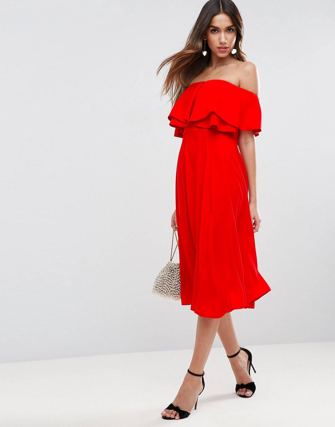 Asos wedding guest dress midi  LOVE this from ASOS  Styles  Pinterest