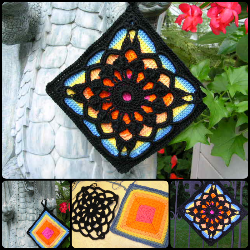 Crochet Fantastic Square Afghan Block with Free Pattern | Topflappen ...