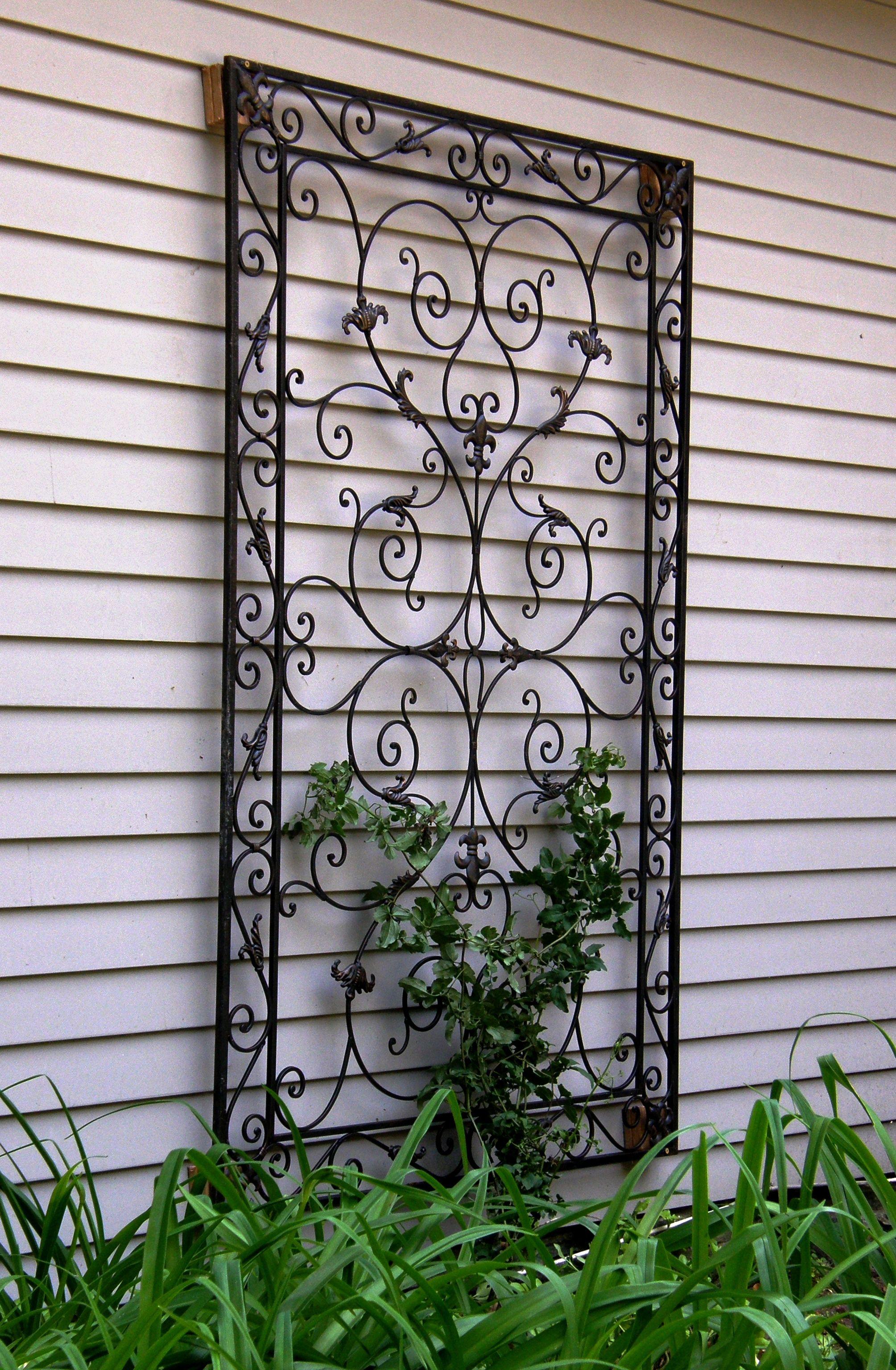 Garden Wrought Iron Decor Outdoor Wall Art For The Garden   Decorative  Wrought Iron