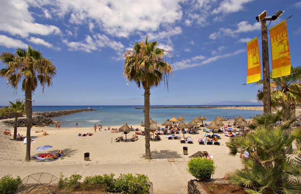 Playa del municipio canario de Arona, en el sur de la isla de Tenerife