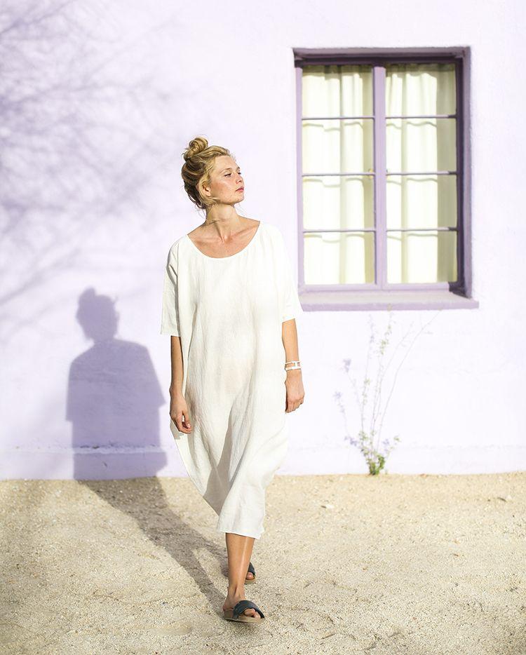 b5d31f5681 Long Cocoon Dress   Rachel Craven Textiles