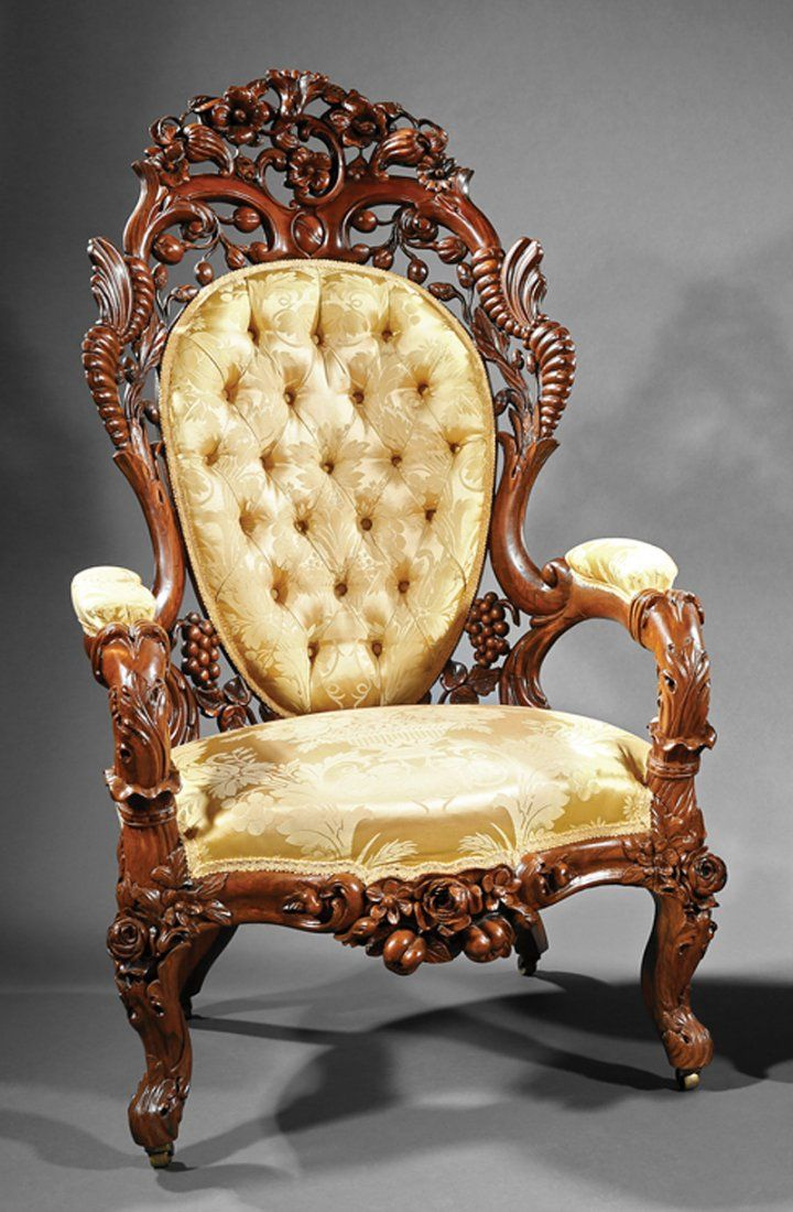 C1860 rococo side chairs jh belter nyc cornucopia for Steam punk chair