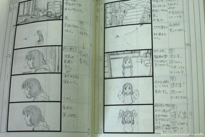 Wolf Children Storyboard Book Review Halcyon Realms Art Book Reviews Anime Manga Film Photography Wolf Children Book Projects Storyboard