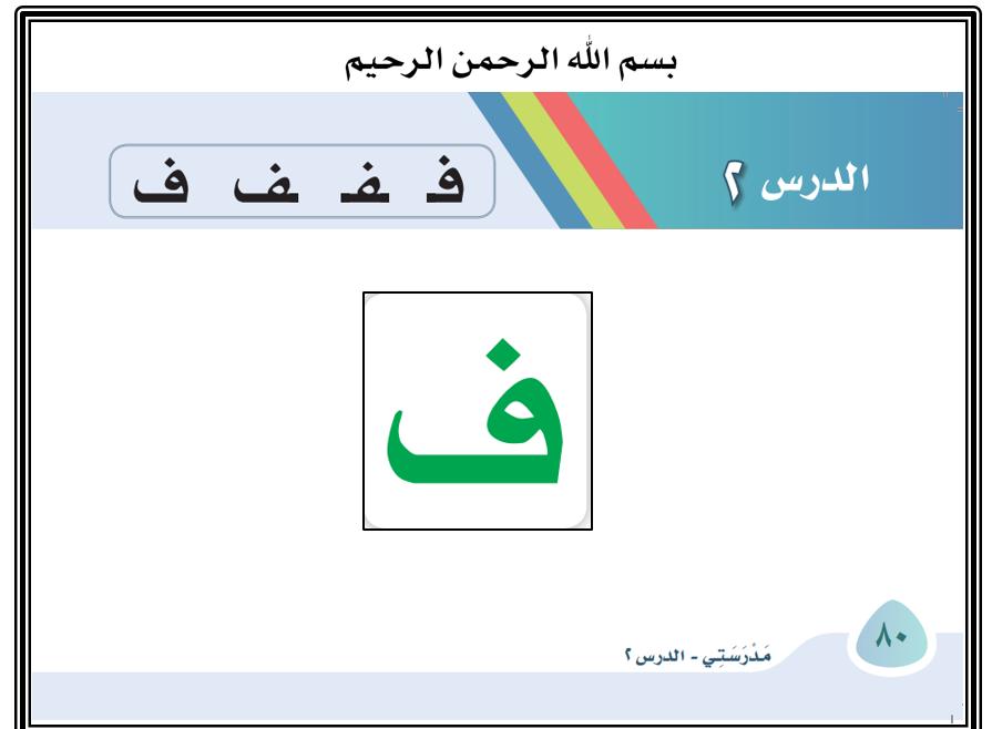 بوربوينت حرف الفاء باشكاله المختلفة للصف الاول مادة اللغة العربية Letters Symbols