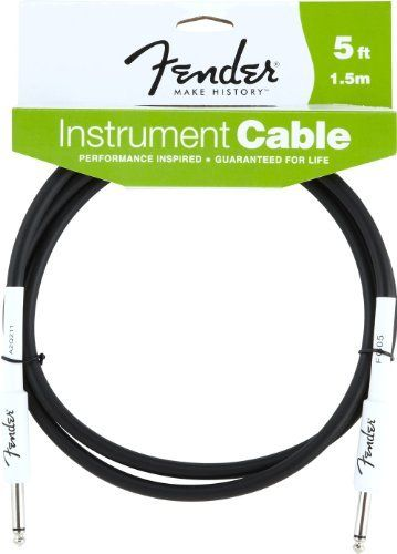 Fender 5 Instrument Cable Black By Fender 11 12 Fender Cables Are Designed Specifically For Live Perf Instruments Fender Custom Shop Performance Inspired