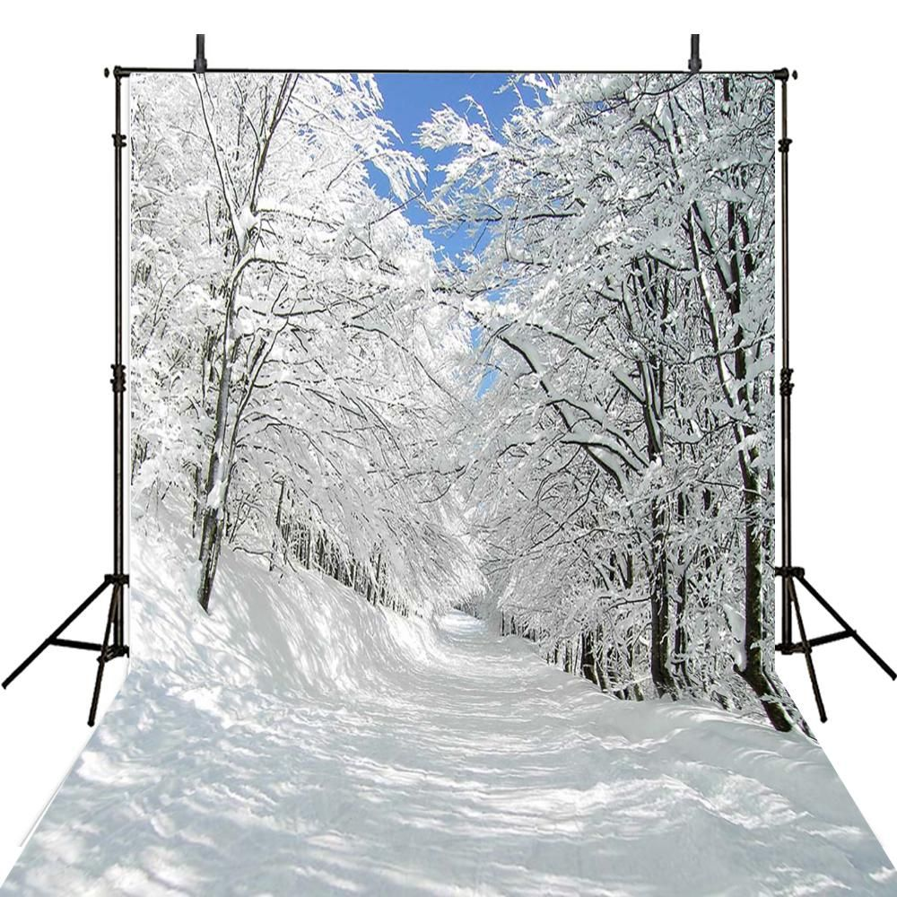 Backdrop Photography Backgrounds Snow Forest Photo Backdrops Winter Vinyl Photography Backgrounds Computer Printed Photo Backgrounds Winter Landscape Snow Forest Winter Photography