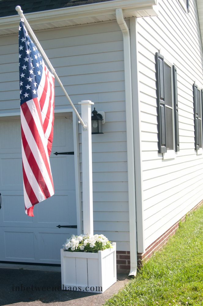 Flag Pole Planter Diy Diy Patio Diy Patio Furniture Backyard