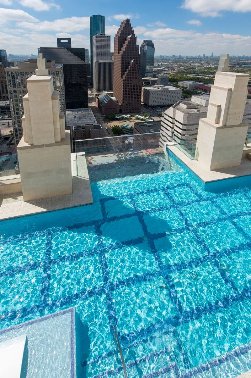 Market Square Tower In Houston Texas Befindet Sky Pool In
