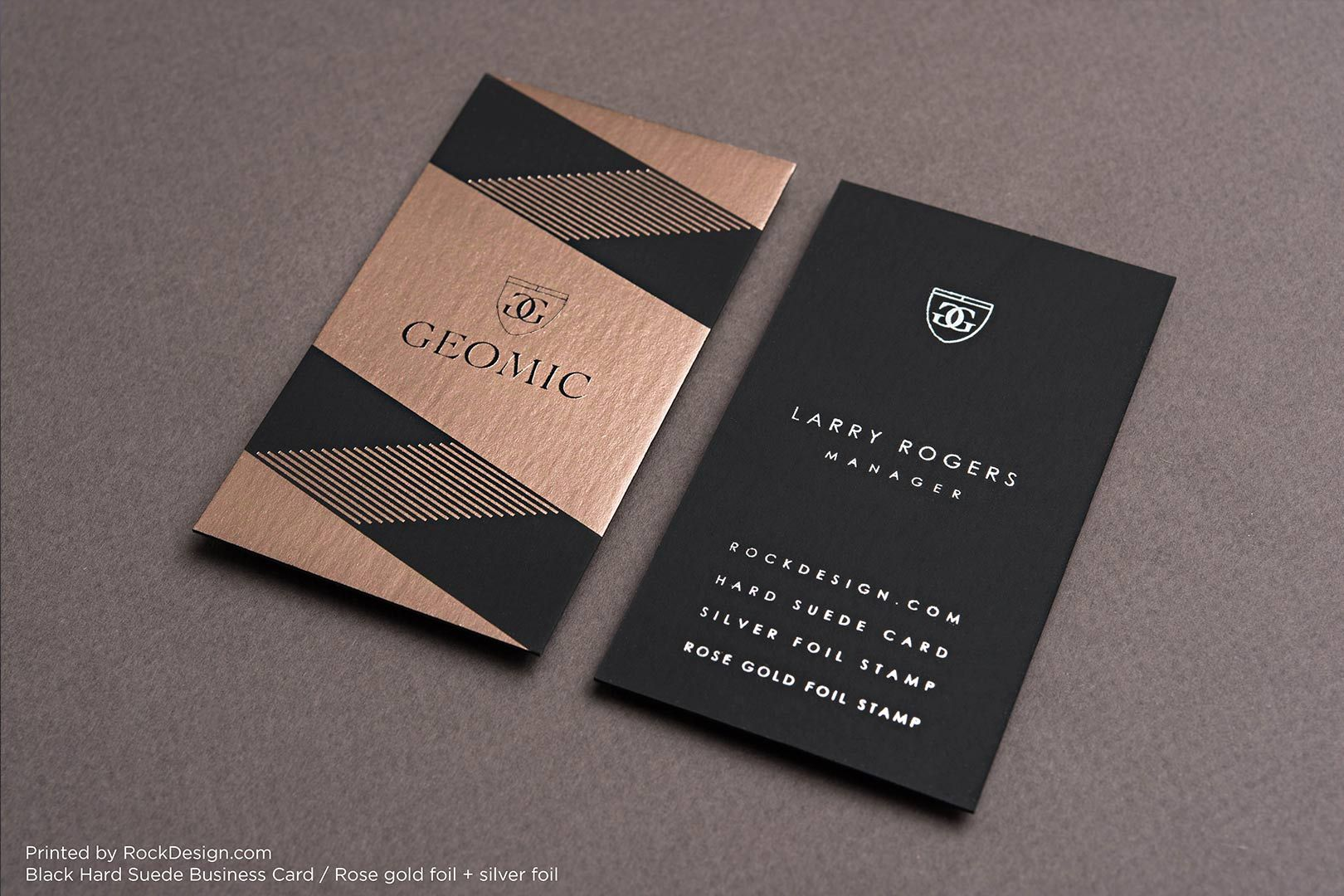 Hard Suede Business Cards | RockDesign Luxury Business Card Printing ...