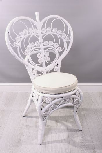 White Heart Love Chair £175.00 : white rattan chair - Cheerinfomania.Com