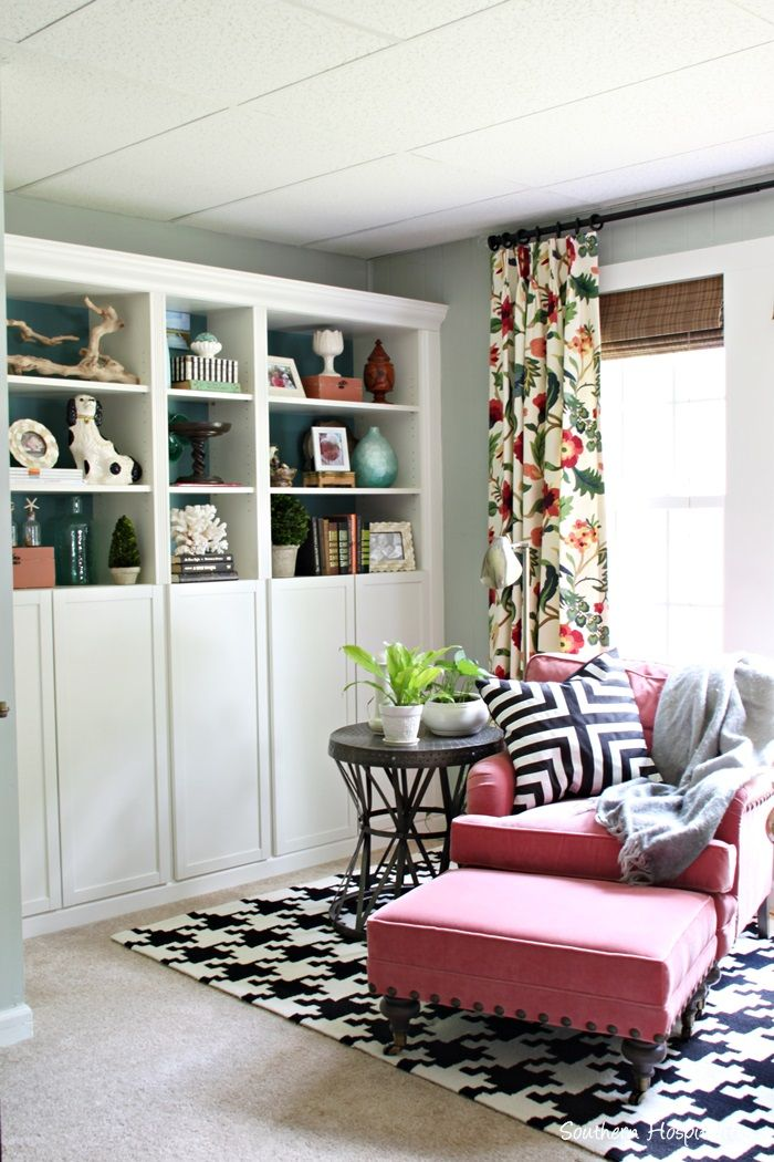 New Drapes In The Den Southern Hospitality Curtains Living Room Curtains Living Floral Curtains