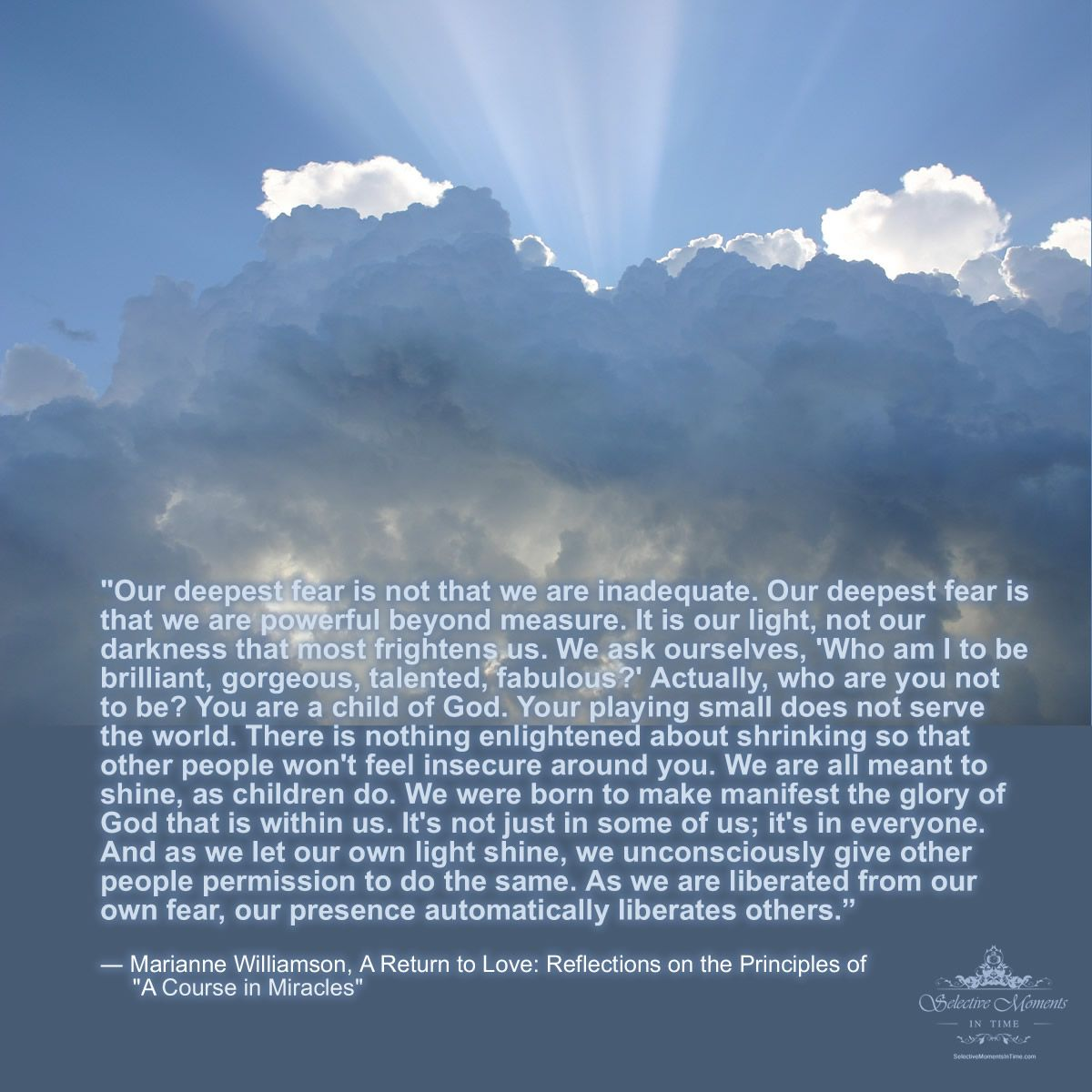 A Return To Love Quotes Marianne Williamson Quote Favorite Quotes & Uplifting Words