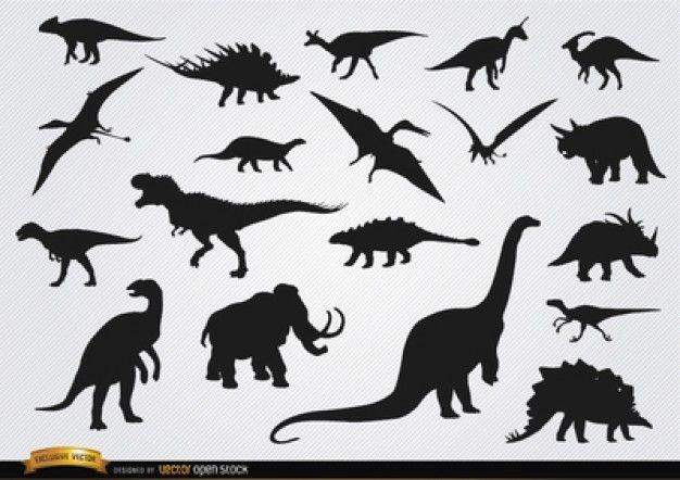 Craft Dinosaur Silhouette