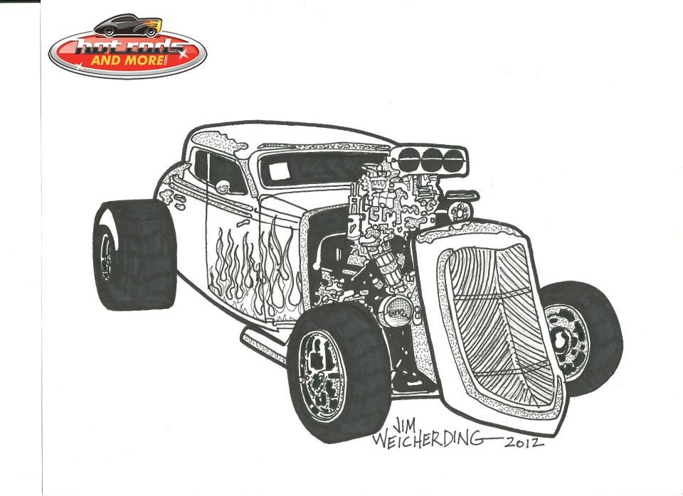 hot rod car coloring pages - photo#9
