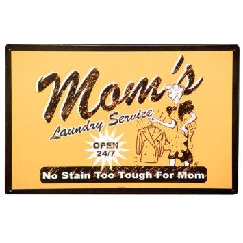 Amazon Com Mom S Laundry Service Metal Sign Home Kitchen