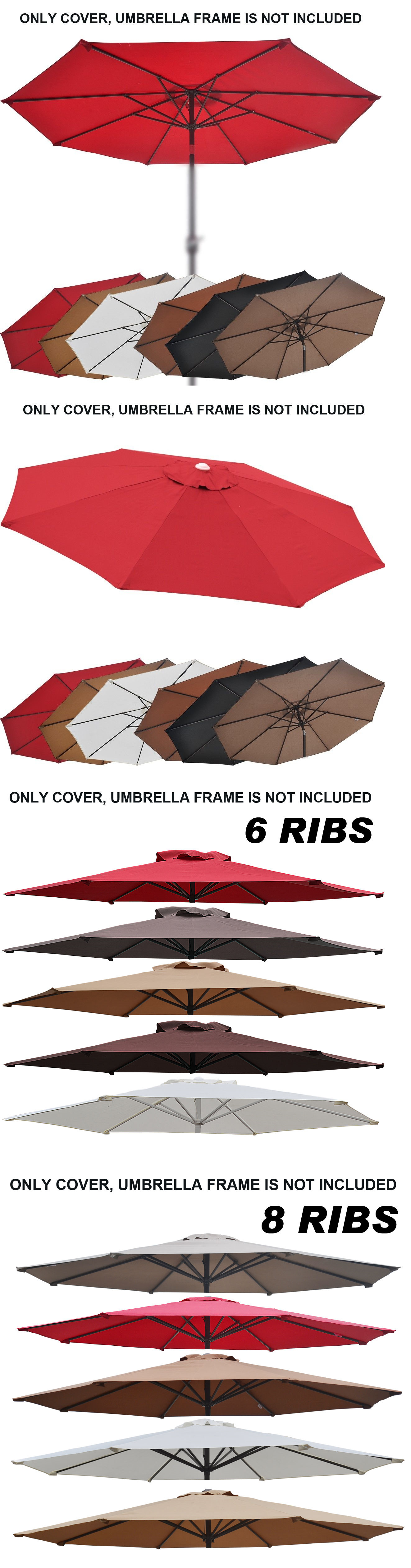 replacement garden ribs canopy frontgate deck swing winds patio costco umbrella img