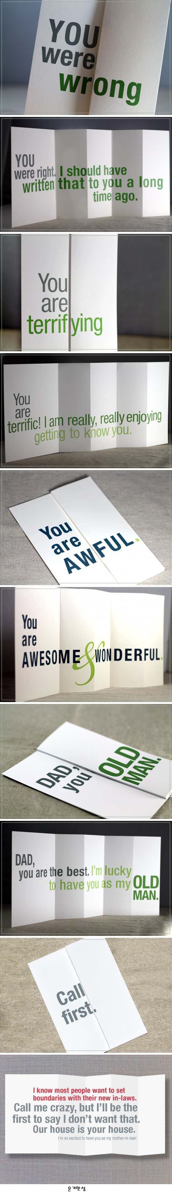surprising and funny foldout cards turning that frown