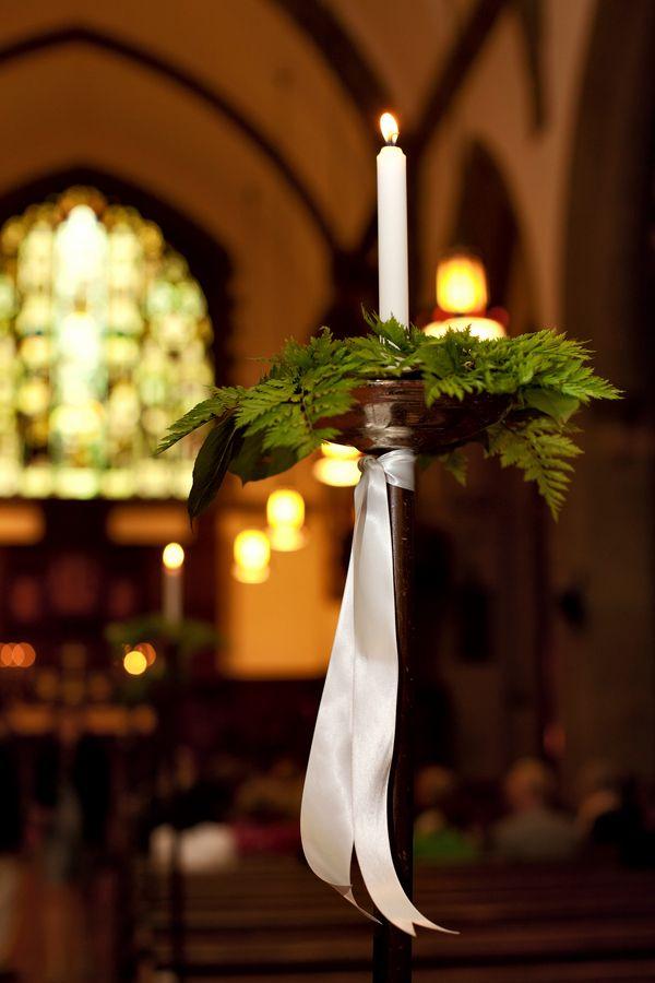 Fern Church Pew Wedding Decor One Day Sanctuary Pinterest