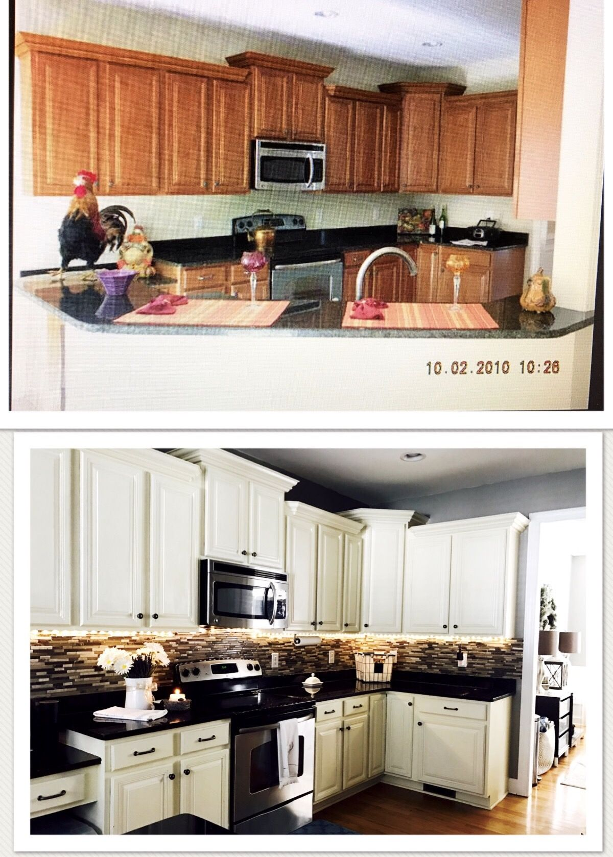 Annie Sloan Chalk Paint Old White to paint kitchen cabinets ...