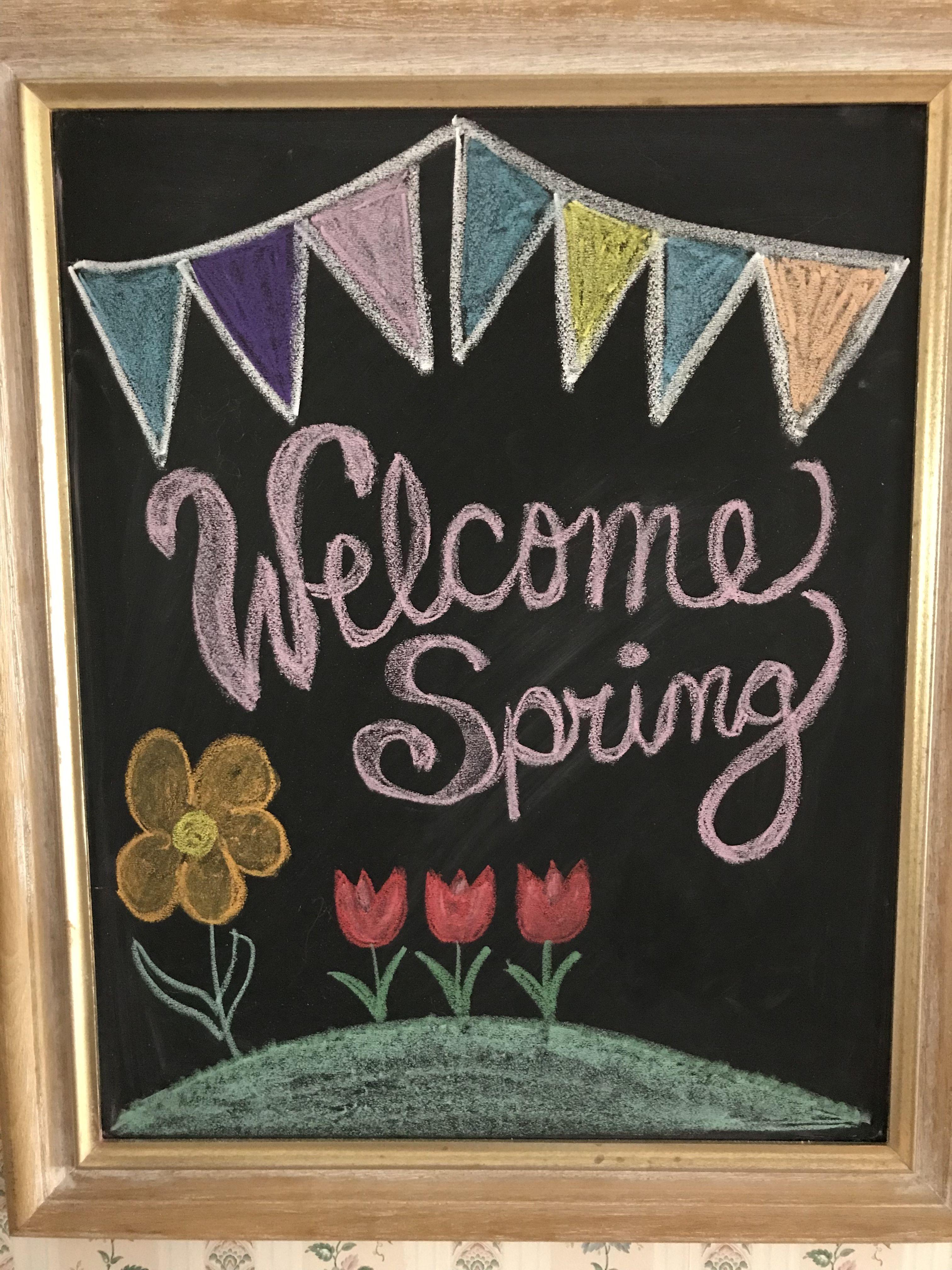 Welcome Spring Chalkboard Art Spring Chalkboard Art Spring Chalkboard Chalkboard Art