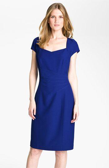 091379411b65 Tahari by Arthur S. Levine Short Sleeve Crepe Sheath Dress   Nordstrom $69
