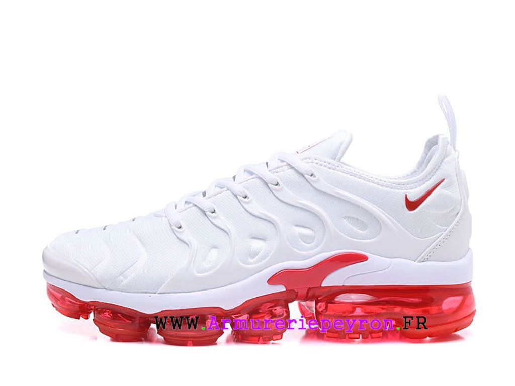newest 9b964 6063c Chaussures de Basketball Nike Prix Pour Homme Nike Air VaporMax Plus Big  rouge   blanc AO4550-ID9