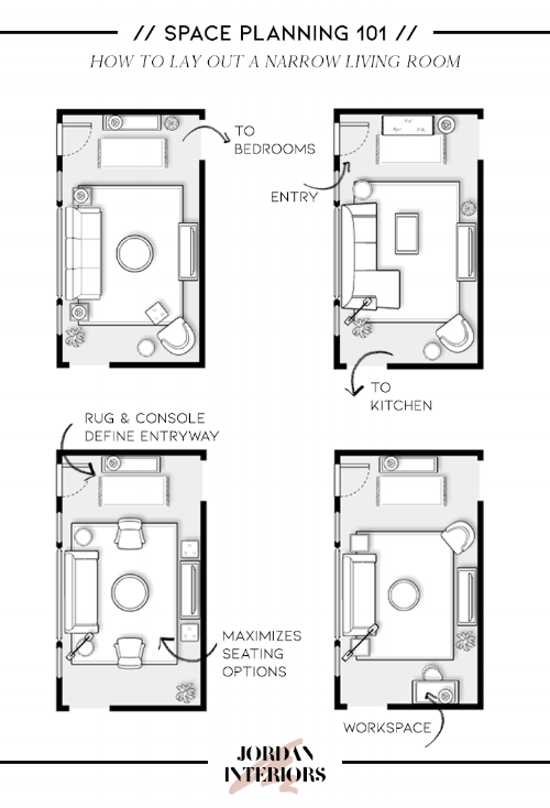 How To Lay Out Your Living Room Like A Pro Jordan Interiors Small Living Room Layout Narrow Living Room Living Room Furniture Layout
