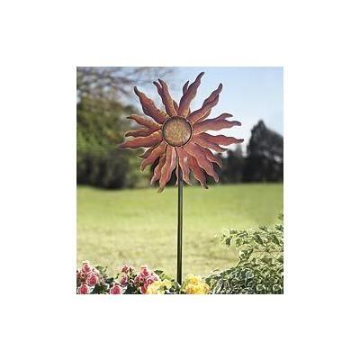 Metal Sun Wind Spinner Kinetic Garden Sculpture