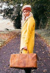Photo of Duffle Bag de cuero ¡El bolso perfecto para llevar todo a una aventura de invierno! # …