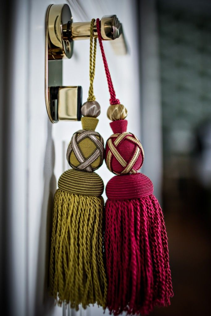 Beautiful Large Tassels For The Door Handles.
