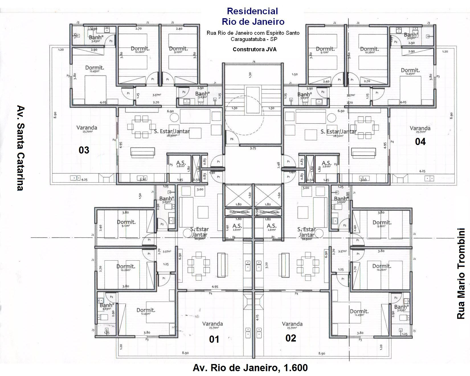 Planta Do Apartamento Tipo Architectural Floor Plans Architectural House Plans Craftsman Floor Plans