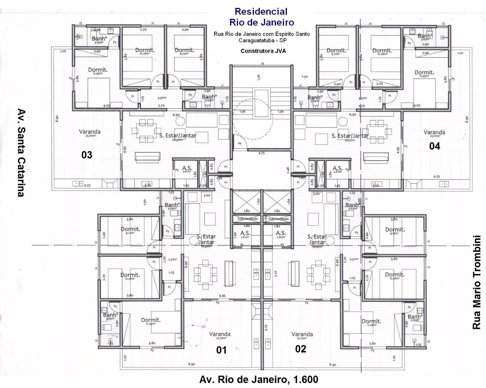 Planta Do Apartamento Tipo Architectural Floor Plans Architectural House Plans Craftsman Floor Plans