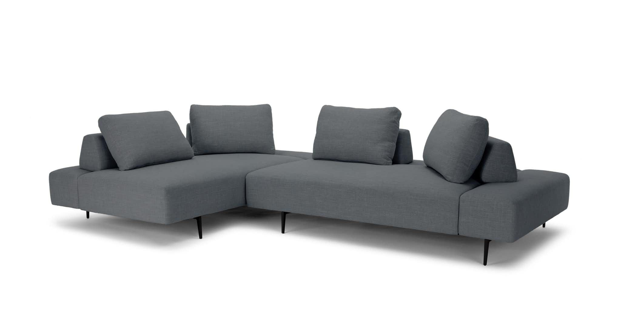 This Modern Lounging Sofa Is Designed For Flexible Lifestyles Low Chunky Seats Are Perched