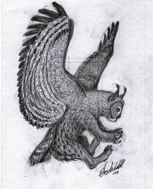 Gryphon Owl And Lynx Mix By Pushdug On Deviantart Gryphon Owl Lynx