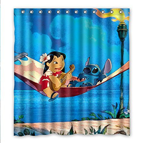 Wenglee Lilo And Stitch Waterproof Fabric Bathroom Shower Https Www Amazon Com Dp B019tyn1cg Ref Cm Sw R P Lelo And Stitch Stitch Disney Lilo And Stitch 3