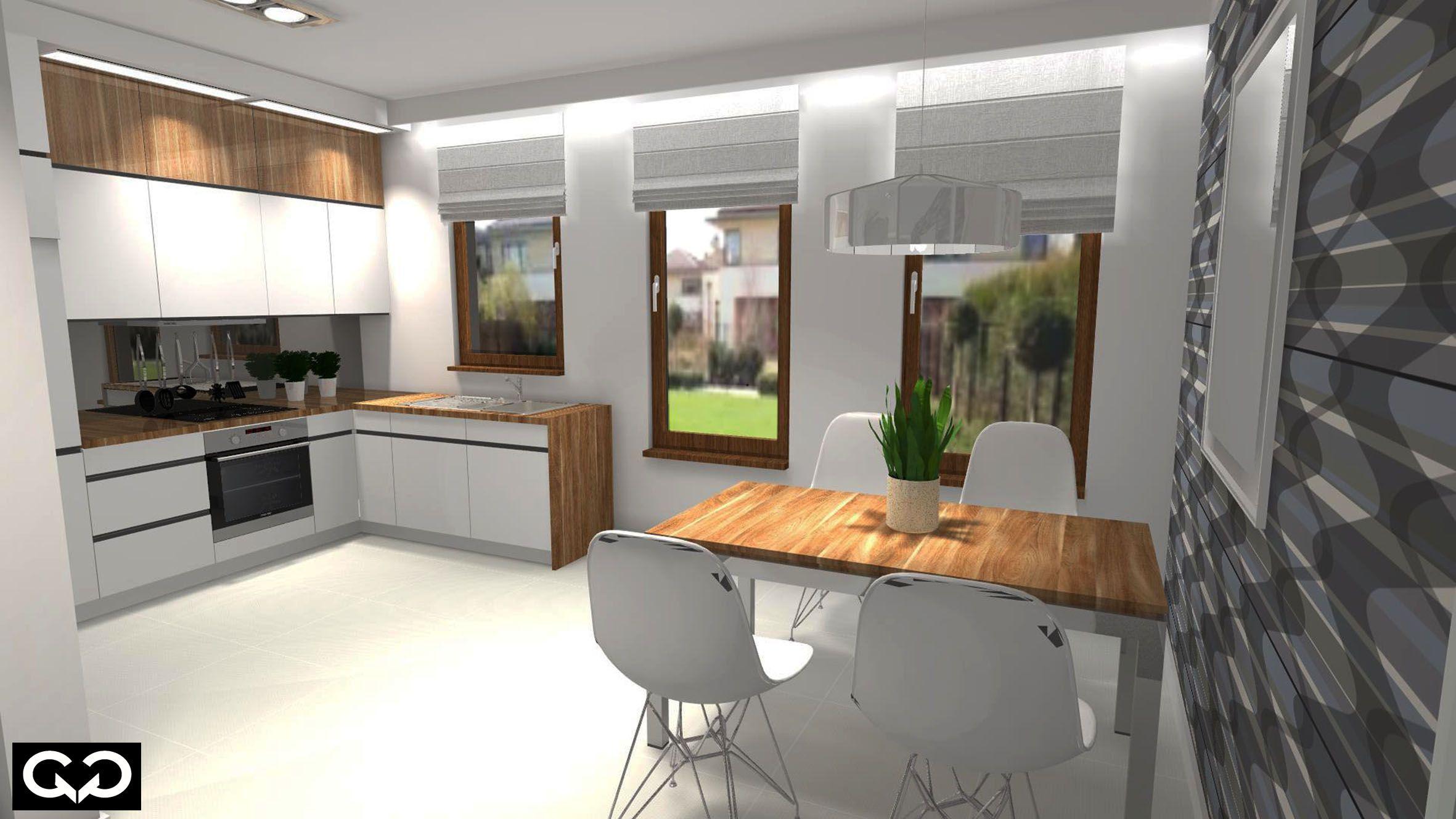Nowoczesna Kuchnia Biel I Drewno Kitchen Home Decor Home