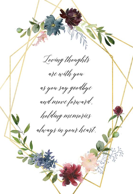 Geometric Flowers Sympathy Condolences Card Greetingcards Printable Diy Sympathy Condolence Card Sympathy Cards Free Online Greeting Cards