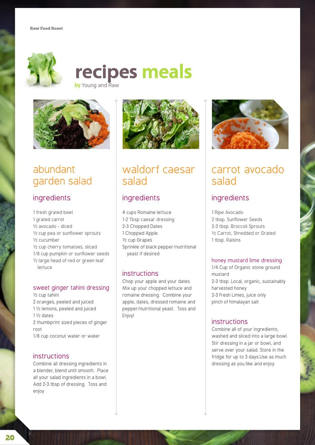 Raw food reset 21 day raw cleanse meal plan cleanse meals and 21st issuu raw food reset 21 day raw cleanse meal plan by monika forumfinder Images